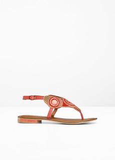 Пляжная обувь Кожаные сандалии в этностиле Bonprix