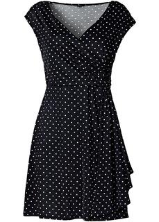 Платья с коротким рукавом Платье в горошек Bonprix