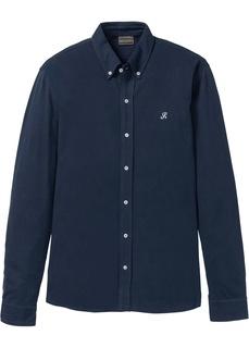 Рубашки с длинным рукавом Рубашка Slim Fit из трикотажа пике Bonprix