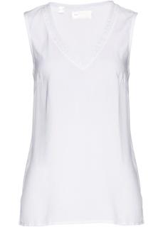 Блузки с коротким рукавом Топ с аппликациями Bonprix