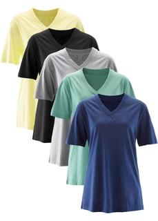 Удлиненная футболка с коротким рукавом (5 шт.) Bonprix