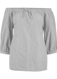 Блузки с длинным рукавом Блузка с вырезом-кармен, рукав 3/4 Bonprix
