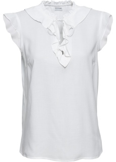 Блузки с коротким рукавом Топ с воланами Bonprix