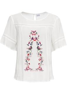 Блузки с коротким рукавом Блузка с вышивкой Bonprix
