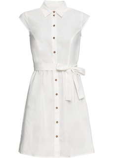 Короткие платья Платье на пуговицах, лен Bonprix