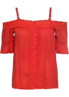 Блузки с коротким рукавом Блузка с открытыми плечами Bonprix