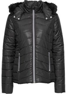 Все куртки Куртка стеганая со съемным капюшоном на искусственном меху Bonprix