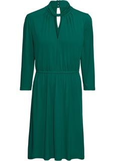Платья с длинным рукавом Платье из крепового трикотажа Bonprix