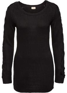 Пуловеры с круглым вырезом Вязаный пуловер Bonprix