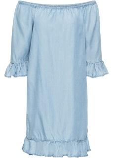 Платья с коротким рукавом Платье с воланами из материала TENCEL® Bonprix