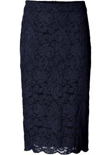 Длинные юбки Кружевная юбка-карандаш Bonprix
