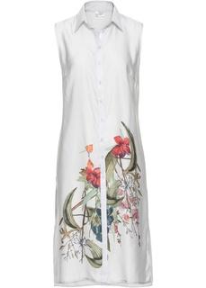Блузки с коротким рукавом Блузка удлинённого покроя Bonprix