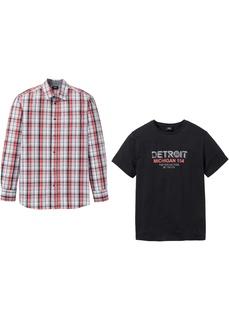 Футболки Рубашка + футболка специального покроя в области живота Bonprix