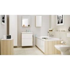 Мебель для ванной Cersanit Smart 60 корпус ясень, фасад белый, с ящиками