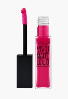 """Помада Maybelline New York для губ жидкая матовая """"Vivid Matte"""", оттенок 30 , Завораживающая фуксия, 7,7 мл"""
