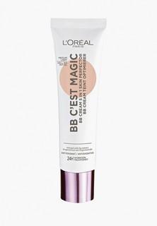 BB-Крем LOreal Paris L'Oreal 5 в 1 для лица «BB C'EST MAGIC. Совершенство кожи», оттенок 03, медиум, 30 мл