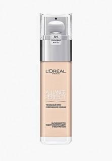 Тональный крем LOreal Paris LOreal Alliance Perfect, Совершенное слияние, выравнивающий и увлажняющий, оттенок N1, 30 мл