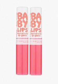 Блеск для губ Maybelline New York Baby Lips Gloss, оттенок 35, Фуксия навсегда, 2х5 мл