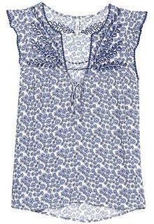 Тонкая блузка с вышивкой Pepe Jeans