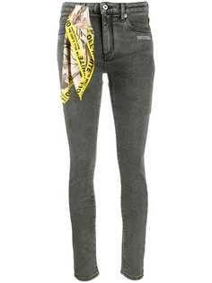 Off-White джинсы скинни с декоративным платком