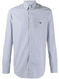 Etro полосатая рубашка с логотипом