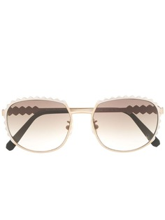 Philipp Plein солнцезащитные очки с фестонами