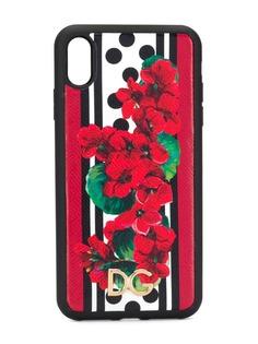 Dolce & Gabbana чехол для iPhone XS с цветочным принтом