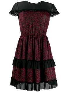 Liu Jo расклешенное платье с леопардовым принтом