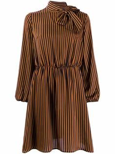 Liu Jo платье в полоску с длинными рукавами