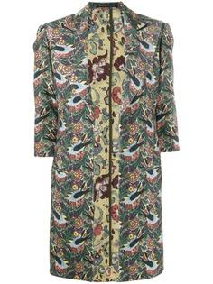 Yohji Yamamoto Pre-Owned пальто с рукавами три четверти и цветочным принтом