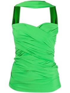 Balenciaga топ-бюстье с драпировкой