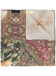 Etro tropical print scarf