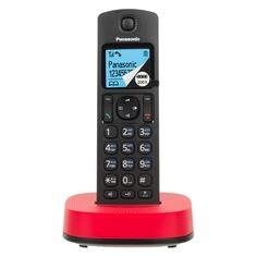 Радиотелефон PANASONIC KX-TGC310RUR, черный и красный