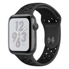 Смарт-часы APPLE Watch Series 4 Nike+, 44мм, темно-серый / черный [mu6l2/a]