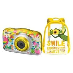 Цифровой фотоаппарат NIKON CoolPix W150, курорт, рюкзак