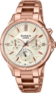 Японские женские часы в коллекции Sheen Женские часы Casio SHE-3047PG-9AUER