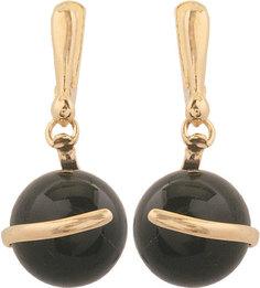Серебряные серьги Серьги Балтийское золото 52180699-bz