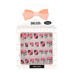 Набор детских накладных ногтей DE.CO. KIDS самоклеящиеся Cats 24 шт Deco