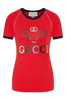 Красная футболка Gucci Tennis