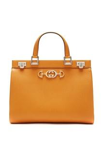 Желтая кожаная сумка Zumi Gucci