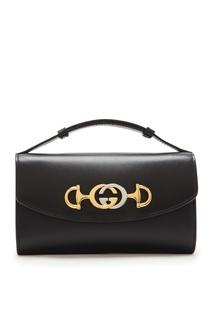Черная кожаная мини-сумка Zumi Gucci