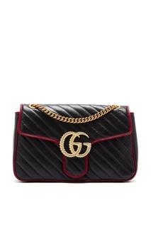 Стеганая сумка с отделкой GG Marmont Gucci