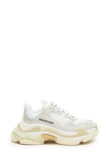 Белые кроссовки оверсайз Triple S Balenciaga