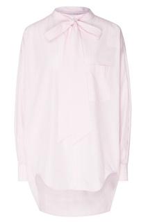 Рубашка в бело-розовую полоску Swing Balenciaga