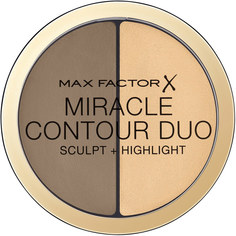 MAX FACTOR Палетка для контурирования лица скульптор+хайлатер MIRACLE CONTOUR DUO