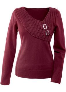 Пуловеры с V-образным вырезом Пуловер с оригинальным дизайном Bonprix