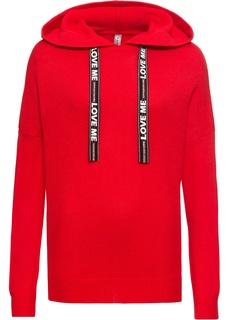 Пуловеры с круглым вырезом Пуловер с украшенными принтом лентами Bonprix