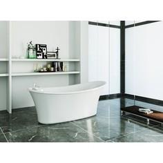 Акриловая ванна BelBagno 167x75 слив-перелив бронза (BB302 + BB39-OVF-BRN + BB39-TC-BRN)