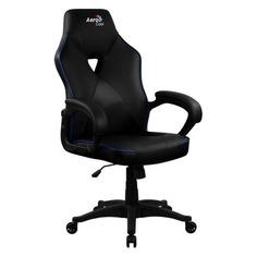 Кресло игровое AEROCOOL AC50C AIR, на колесиках, полиуретан, черный/синий [ac50c air black blue]