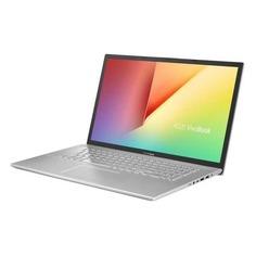 """Ноутбук ASUS VivoBook X712FB-BX016T, 17.3"""", Intel Core i7 8565U 1.8ГГц, 8Гб, 512Гб SSD, nVidia GeForce Mx110 - 2048 Мб, Windows 10, 90NB0L41-M00160, серебристый"""